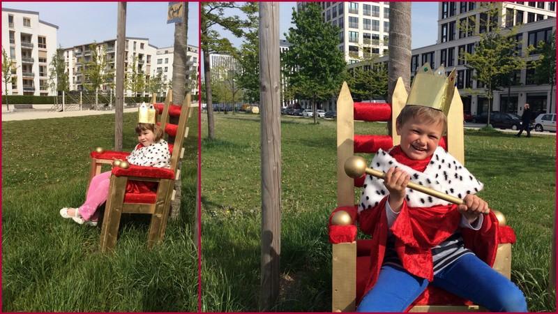 Den Kindern im Arnulfpark fiel es sehr leicht, sich in die Welt des Königs/der Königin  zu versetzen.