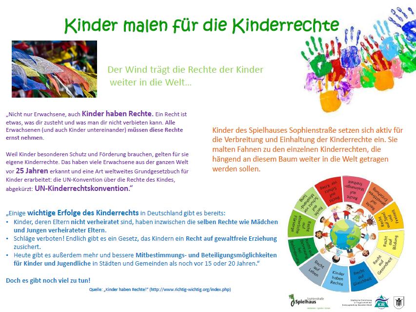 Kinder malen für die Kinderrechte